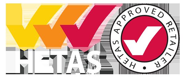 HETAS approved retailer logo
